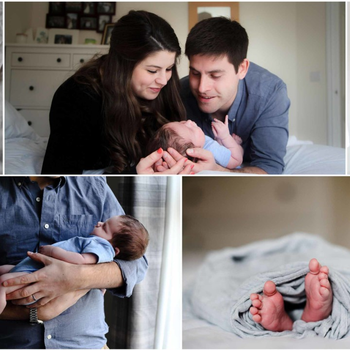 10 Day Old Noah's Relaxed Baby Photoshoot at Home - Waterlooville.