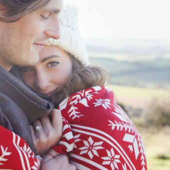 Barney and Ashley - A Winter Engagement Shoot - Hampshire