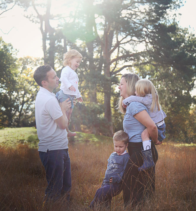 Esther, James and Family - Autumnal Photoshoot in Petersfield